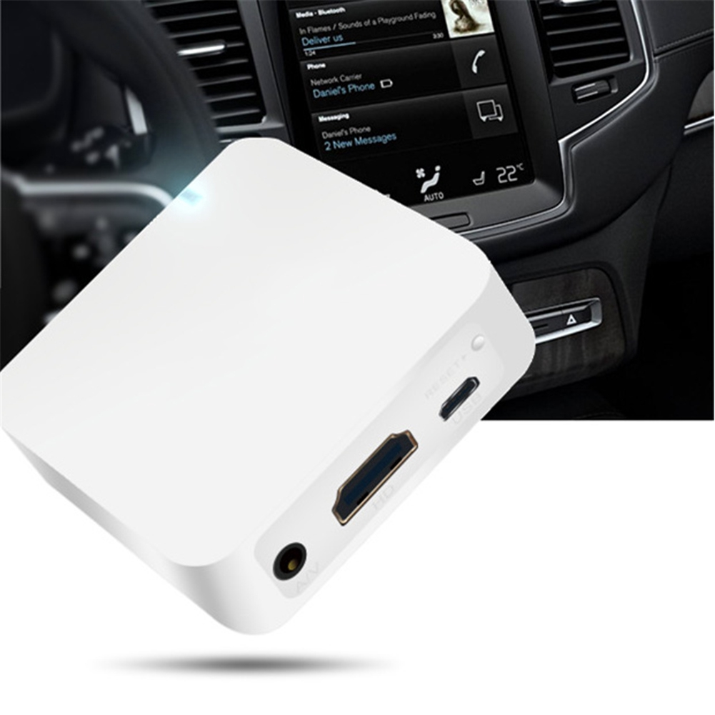HD Multimedia Car WiFi Display Mirror Link Box AV+HDMI Airplay For Android iOS