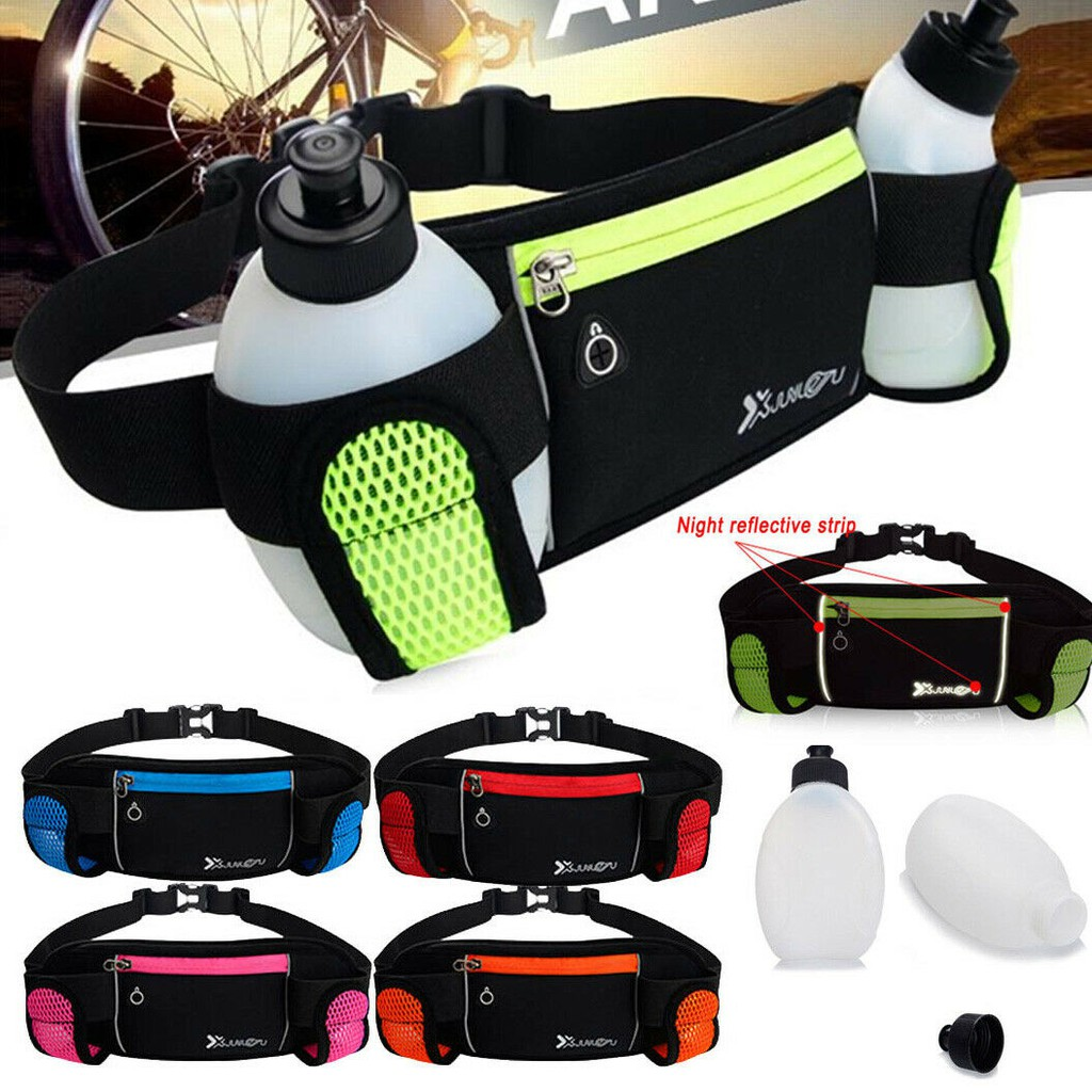 Sports Running Jogging Cycling Water Bottle Holder Waist Pack Fanny Bag Belt Gym