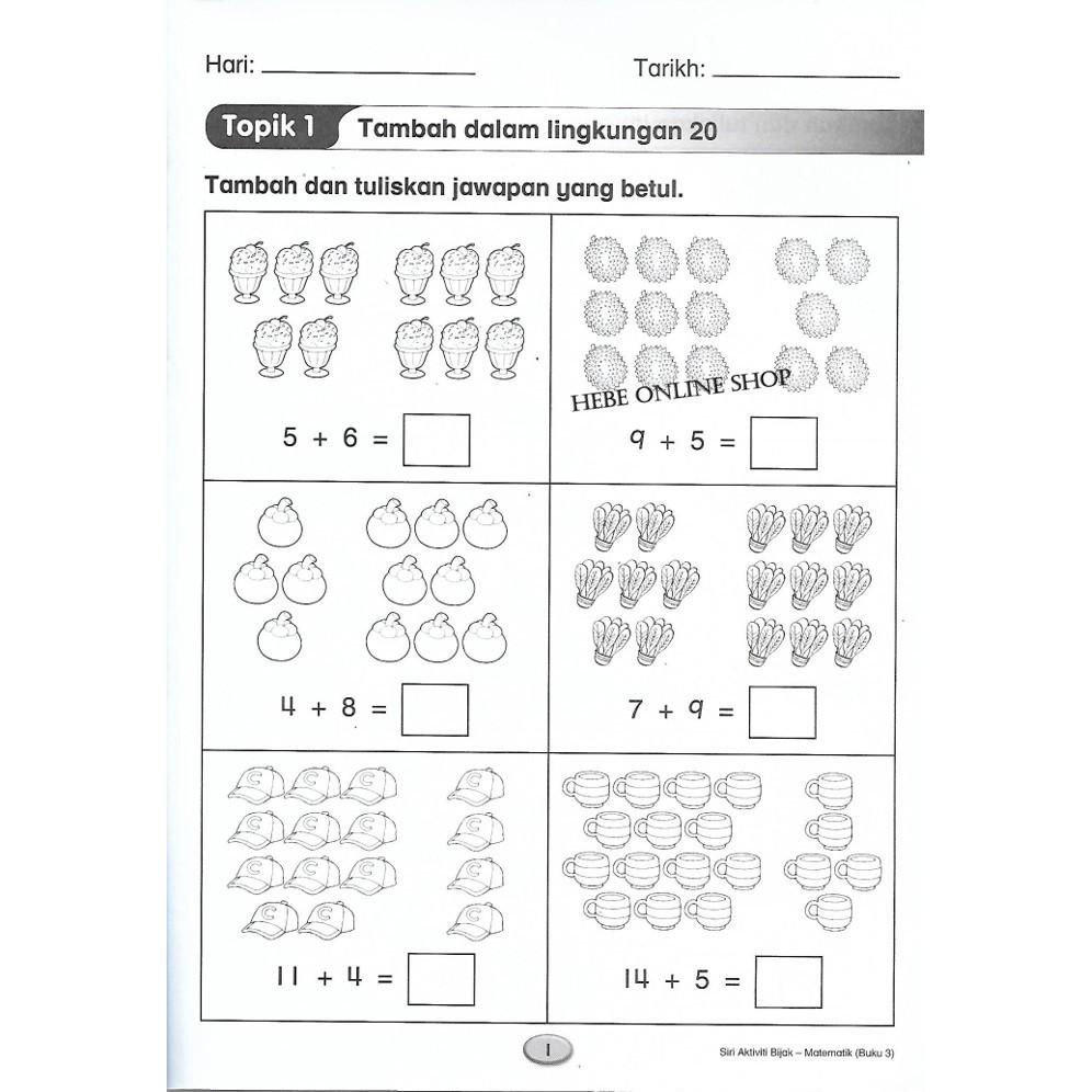 Latihan Matematik Prasekolah 5 Tahun