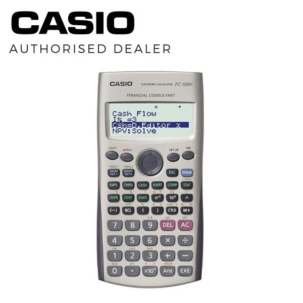 Casio Financial Calculator FC-100V For Tax Advisors, Financial Consultants