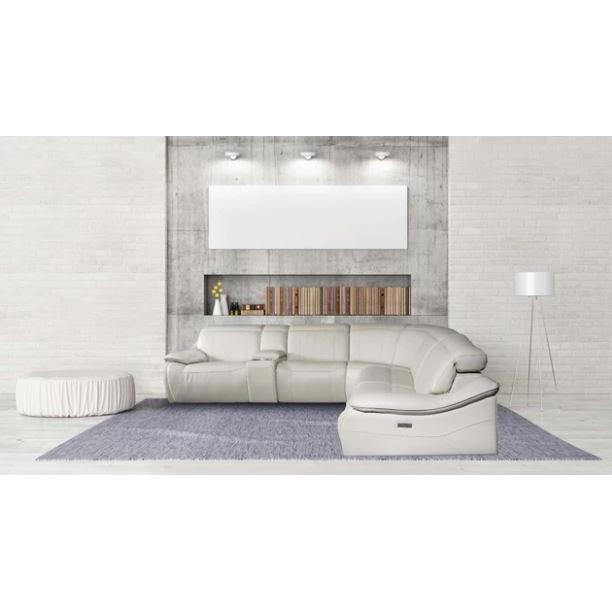 Norma Sectional Motorised Recliner Sofa, Modern Recliner Sofa Fabric