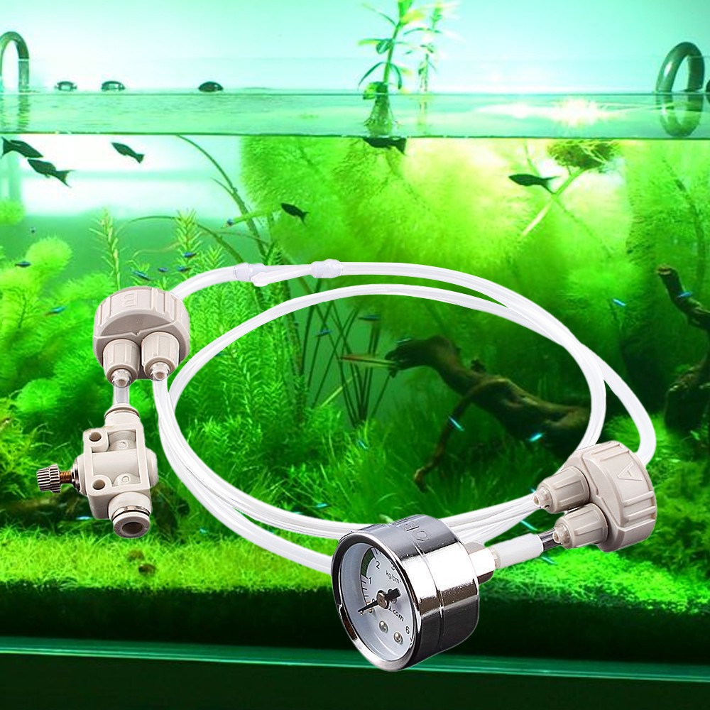 Planted Aquarium Fish Tank U Shape Diy 4 In 1 Co2 Diffuser For Ys Untuk System Check Valve Bubble Counter Shopee Singapore