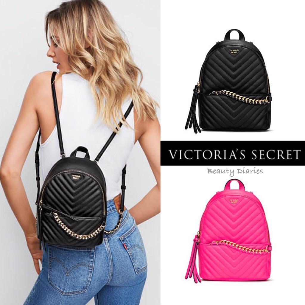ec3e8065729d2 Victoria's Secret Pebbled V-Quilt Small City Backpack