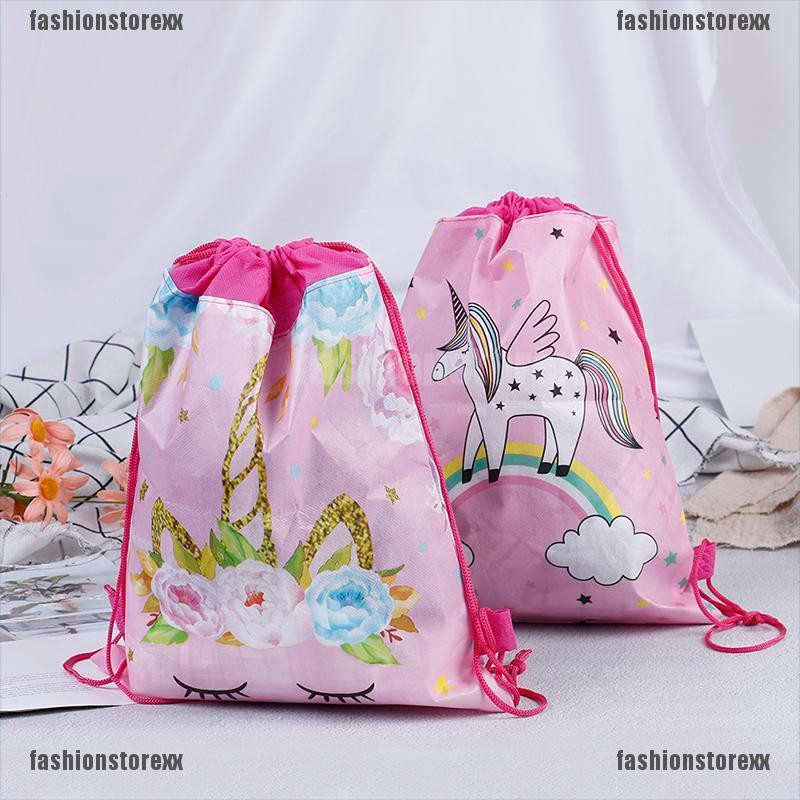 Expression non-woven drawstring bag backpack kids travel school decor gift bags!