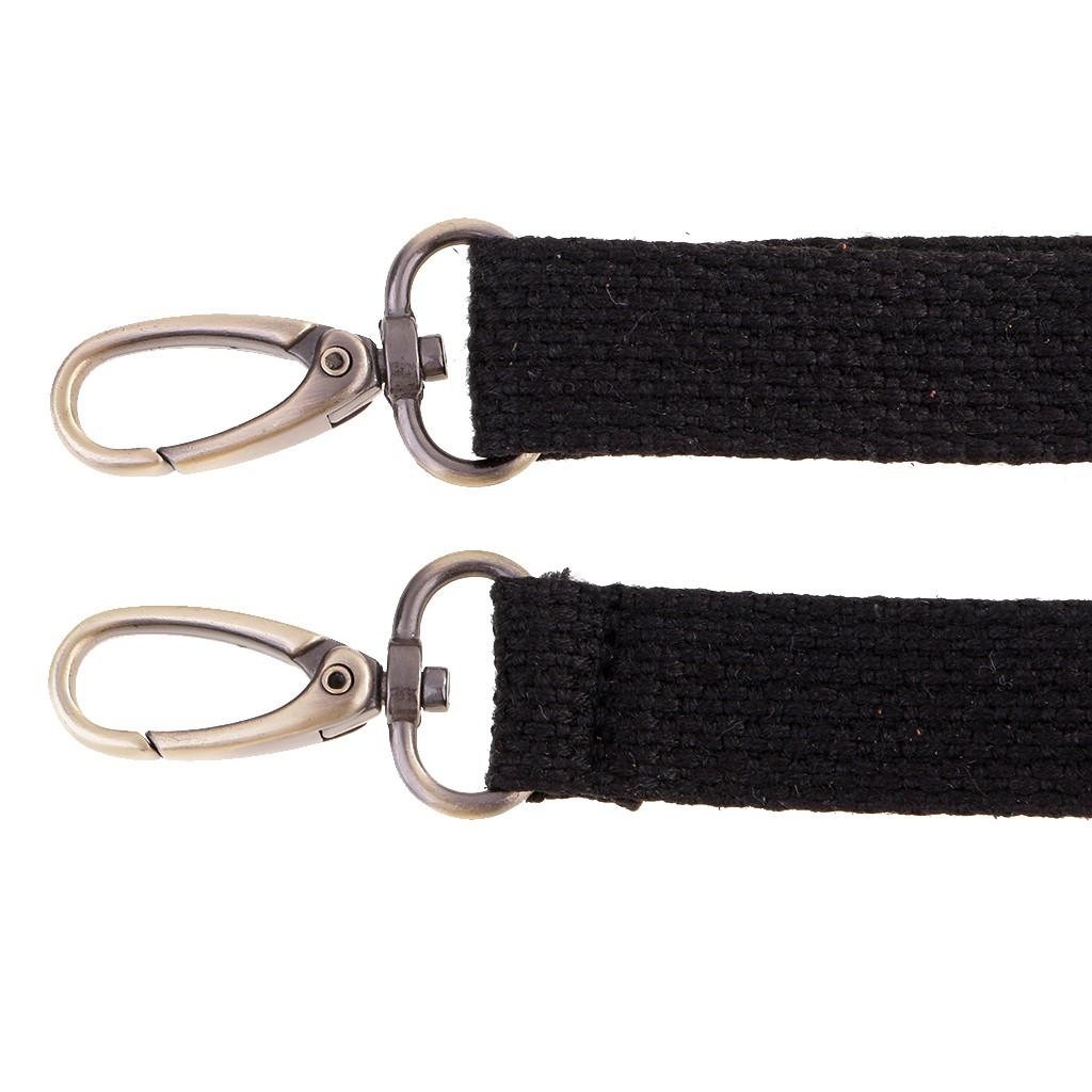 Black Prettyia Shoulder Crossbody Bag Strap Replacement Canvas Purse Belt Adjustable 140cm