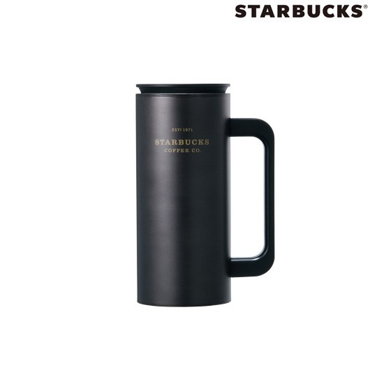 Starbucks Ss Black Heritage Newton Stainless Steel Tumbler 355ml