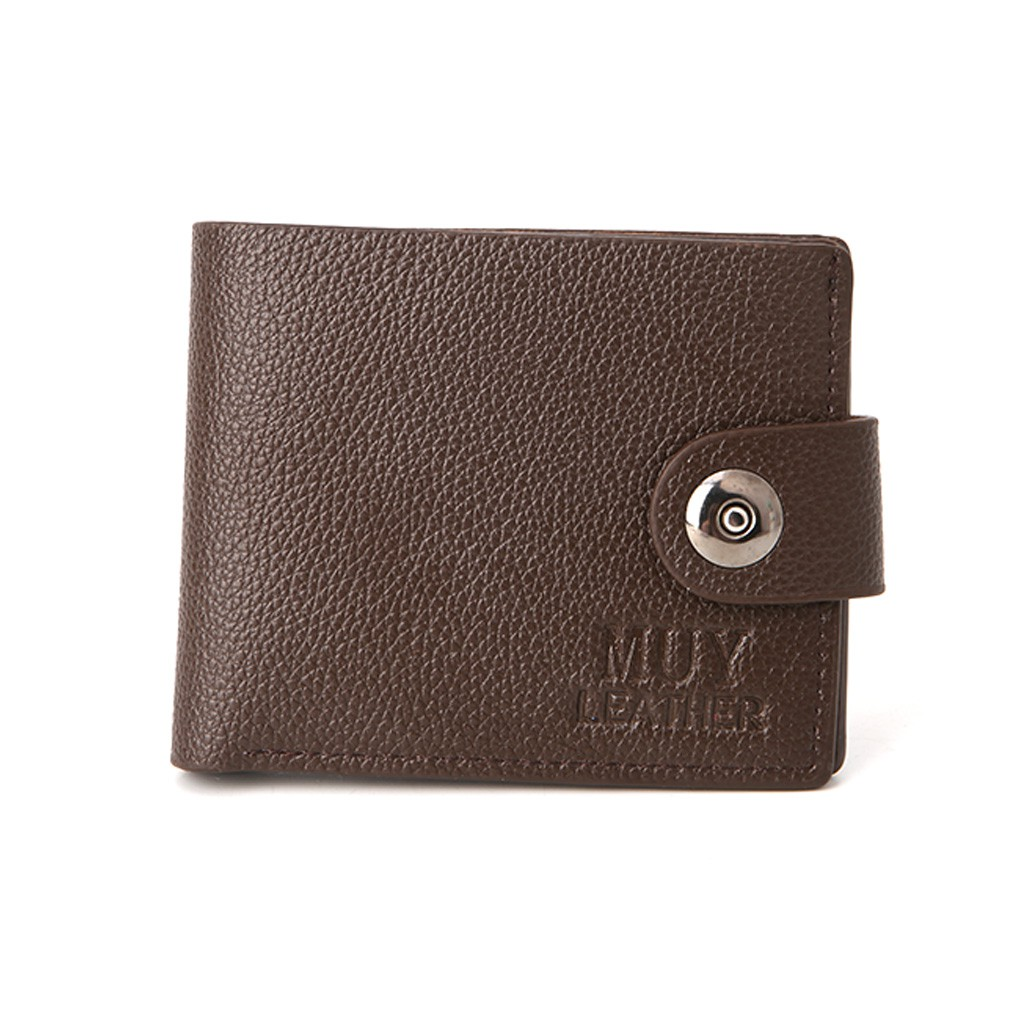 57b2624c2cea BST❀Mens Affordable Leather Credit Card Holder Wallet Hasp ID Cash Purse
