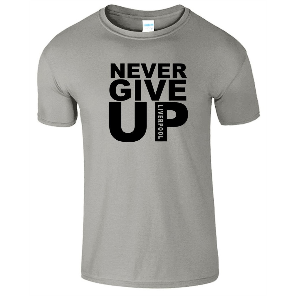 Never Give Up Mo Salah Mens T-Shirt Football 2019 Unisex Top Tee