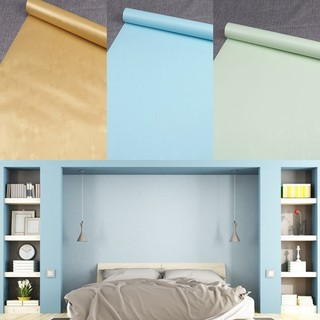 1 Pc Household Thick Waterproof Self Adhesive Wallpaper Solid Color