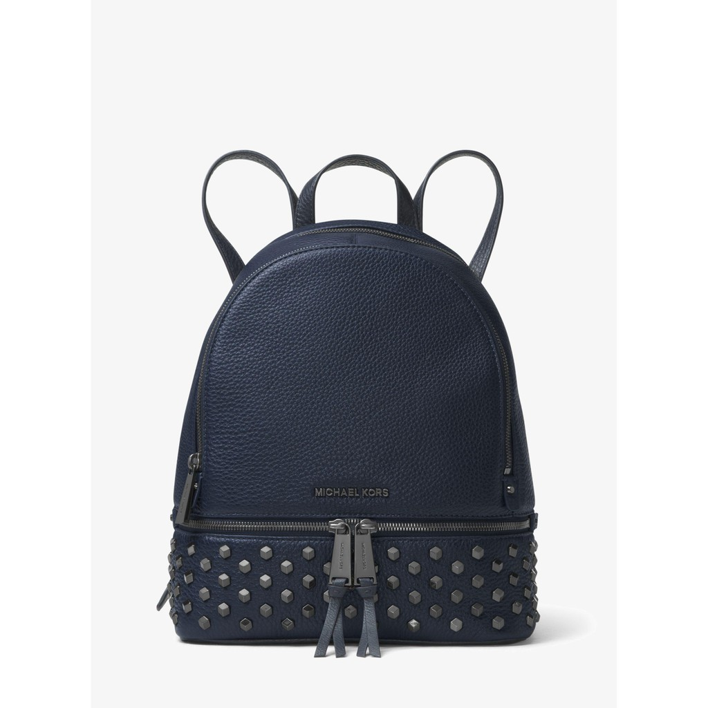 4a6232f7db9b21 Authentic MK Michael Kors Rhea Small/Medium Studded Leather Backpack |  Shopee Singapore