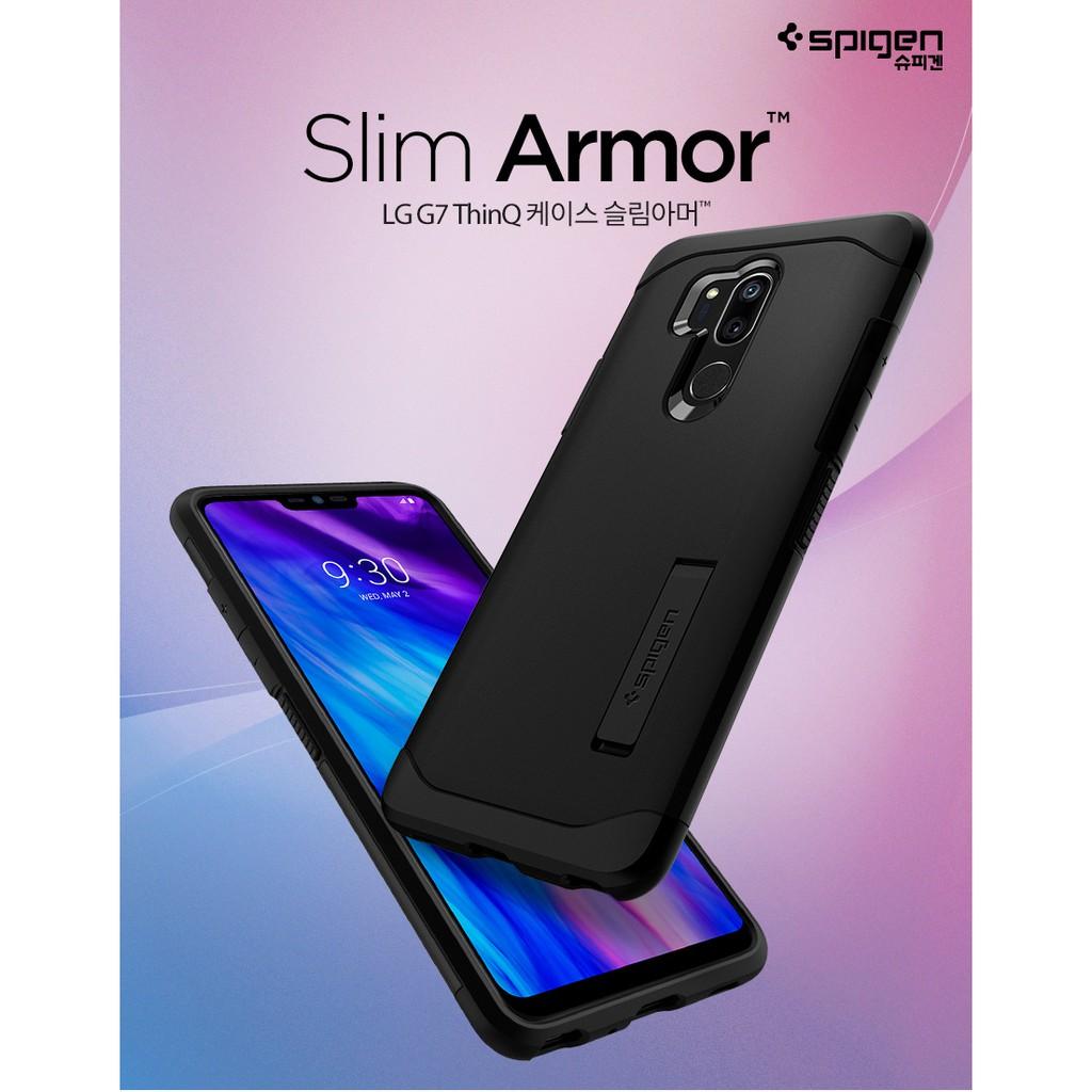 buy popular 3e429 d8d5e Spigen LG G7 ThinQ Case Slim Armor (Black/Metal Slate) 100% Original