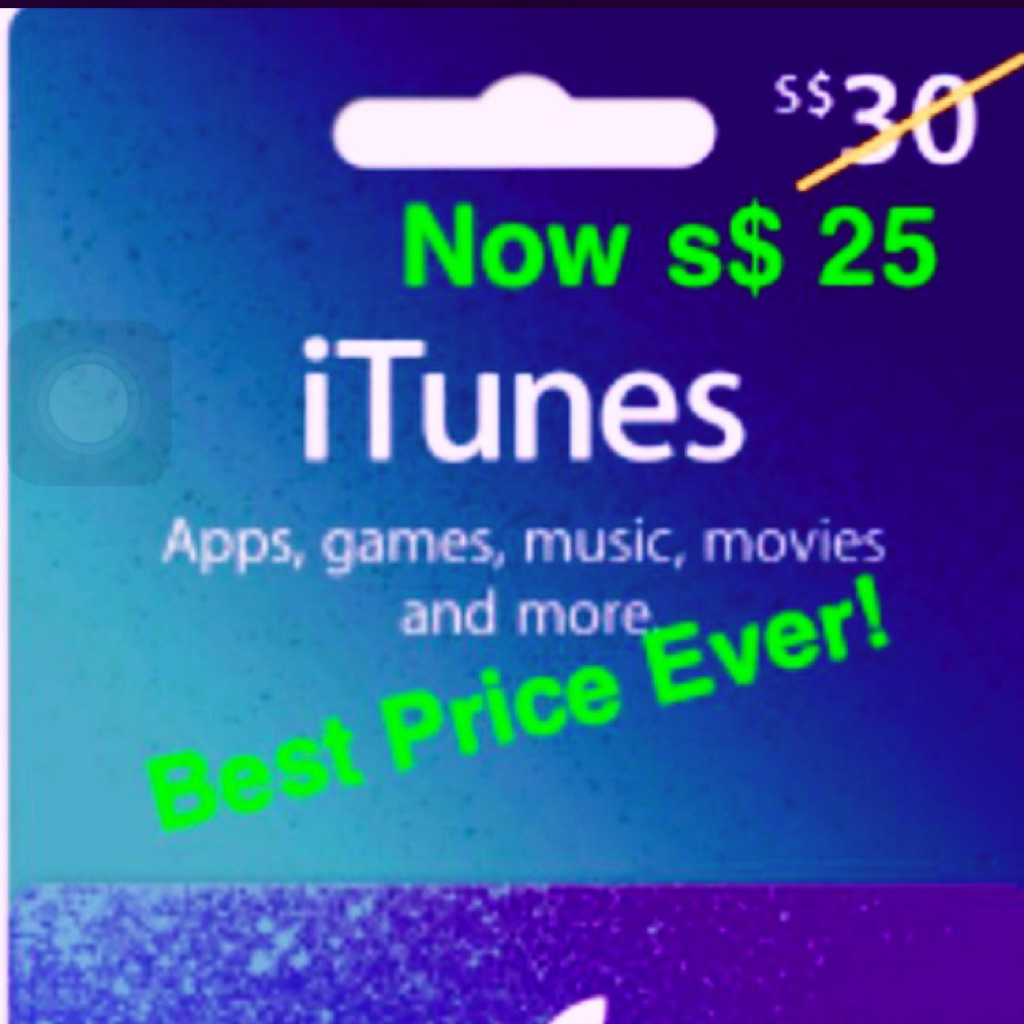 Update Out Of Stocks Currently 30 Itunes Gift Card Singapore 25 45 Shopee