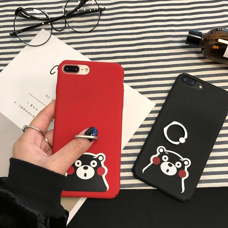 7624e9c4b9 2 in 1 Cute Bear Couple Phone Case + Ring Holder Matte Hard Phone Case Plus  Case