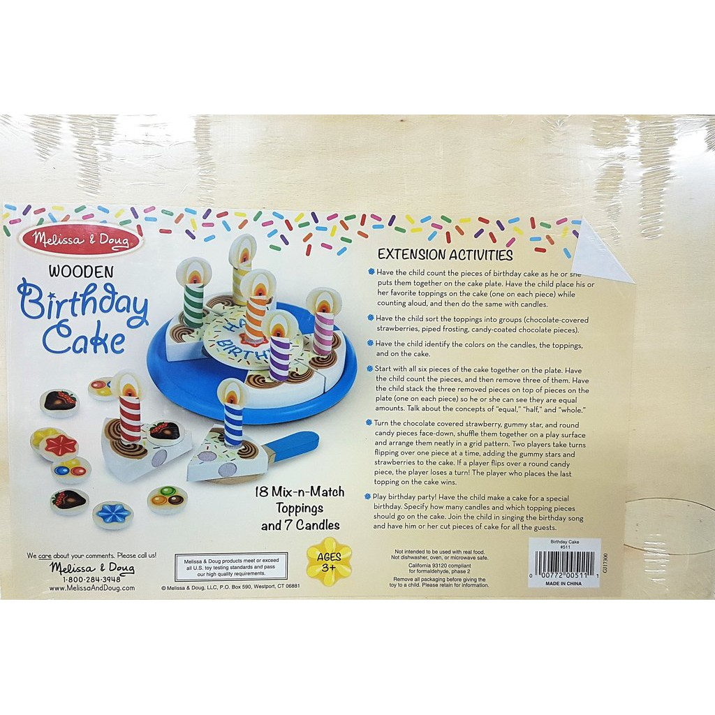 Peachy Melissa Doug Wooden Birthday Cake Pretend Play Shopee Singapore Funny Birthday Cards Online Alyptdamsfinfo