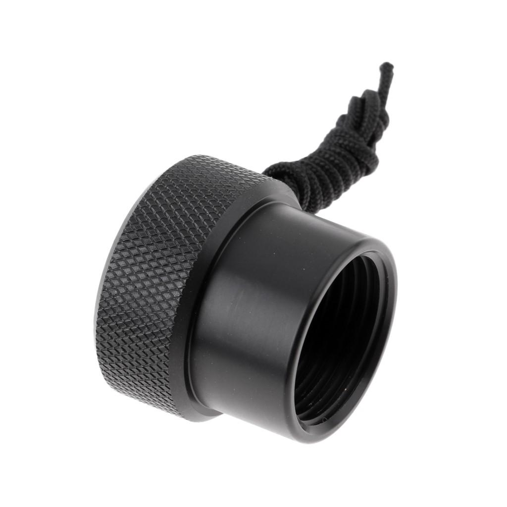 Black Scuba Diving Dive Tank Valve Threaded Dust Plug Cap Protection Cover