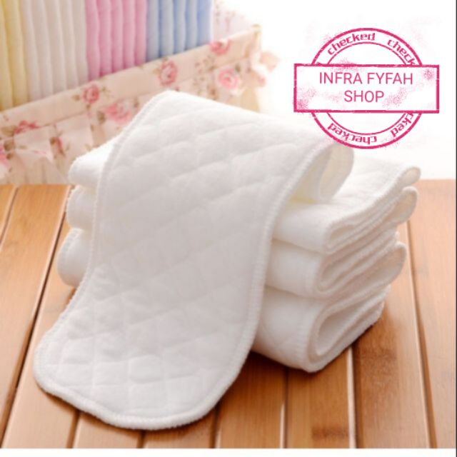 3 Layers Reusable/& Washable Newborn Baby Cotton Cloth Diaper Nappy Liners Insert