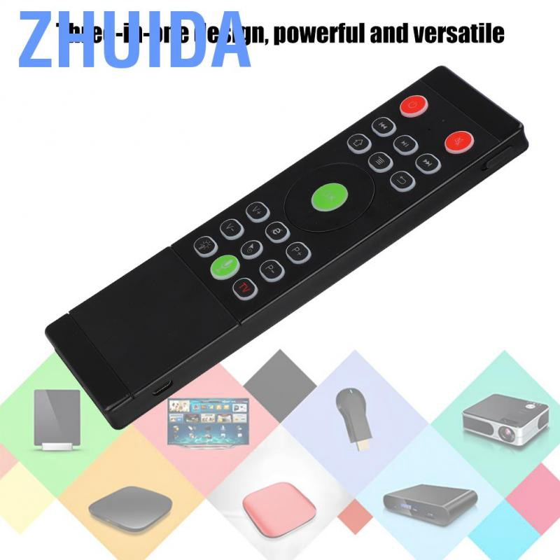 ASHATA Wireless Keboard TZ16 Multifunction Touchpad Keyboard 2.4G Mini Air Mouse Backlit Universal Remote Control Keyboard