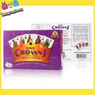 Five Crowns Funny Playing Card Game For Children Adluts Family Gathering Party
