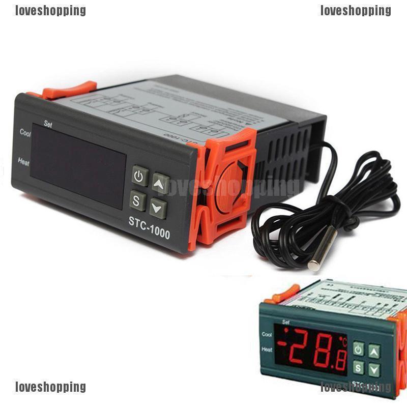 Digital Temperature Controller Thermostat LED Sensor for Incubator AC10A 220V.xm