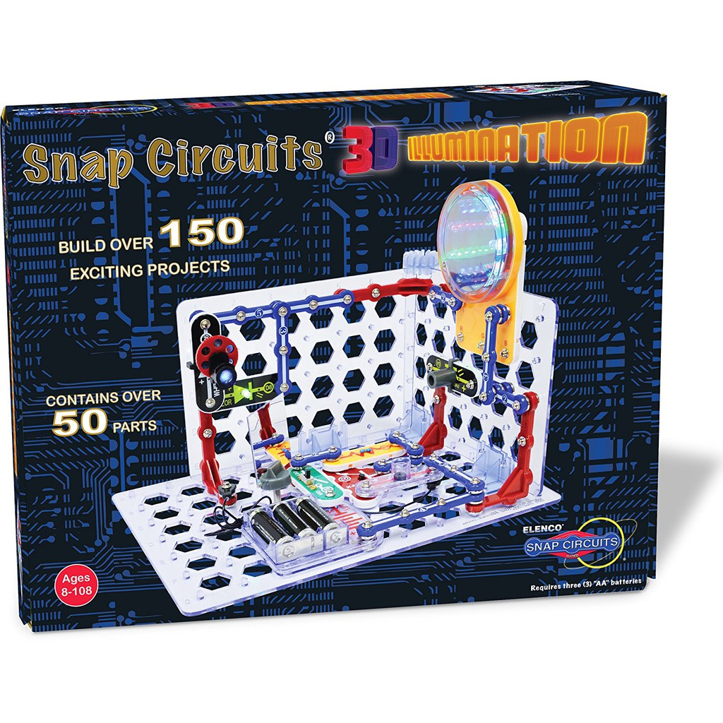 snap circuits 3d illumination electronics discovery kit new for 2016Snap Circuits Sc300 A Mighty Girl #12