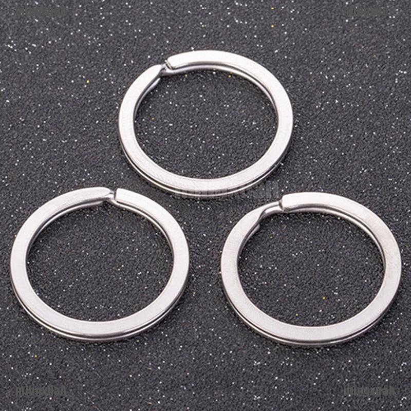 30PCS Polished Silver Split Ring Keyrings Key Chain Hoop Loop Key Holder 4H WQ