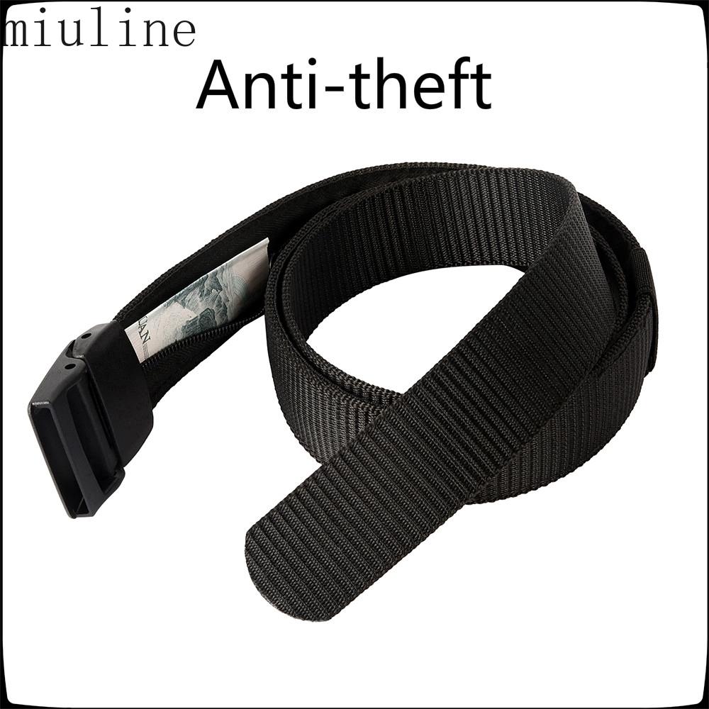 Anti-theft Belt Cash Safety Hidden Outdoor Zipper Belt Waist Bag Money Belt