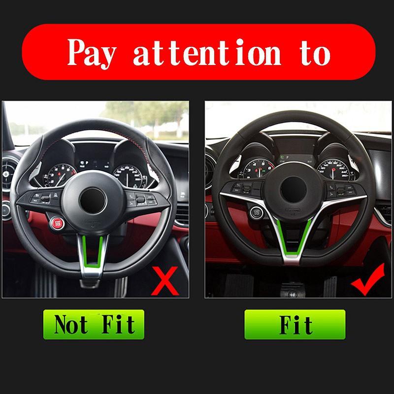 Steering Wheel Decor Strip Kit Trim Accessories For Alfa Romeo Stelvio 2017-2019