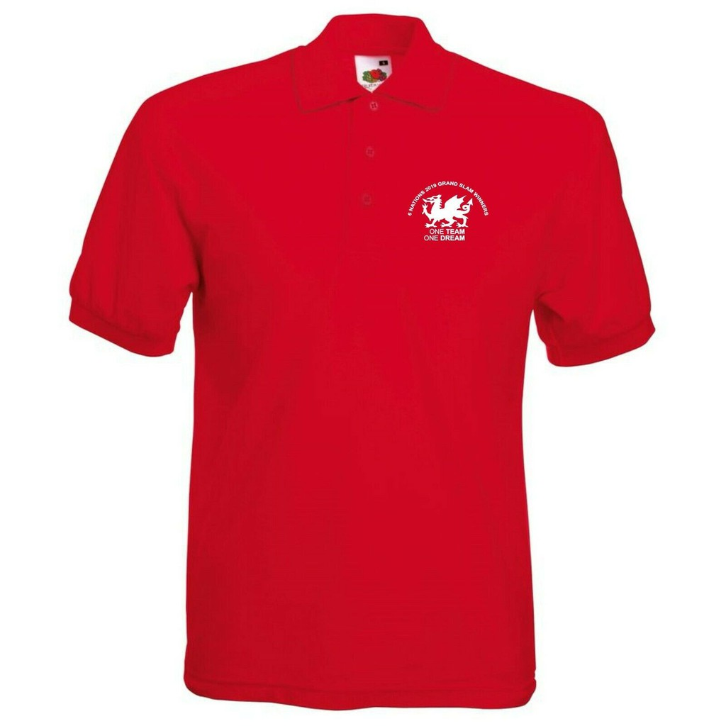 Men's Clothing Polos research.unir.net One Team One Dream Wales ...