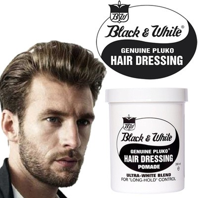 Black And White Hair Dressing Pomade Wax Long Lasting Hold