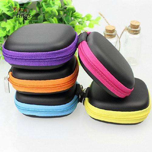 Earphone Headphone Earbud SD Card Coins Carrying Storage Bag Pouch Hard Case New