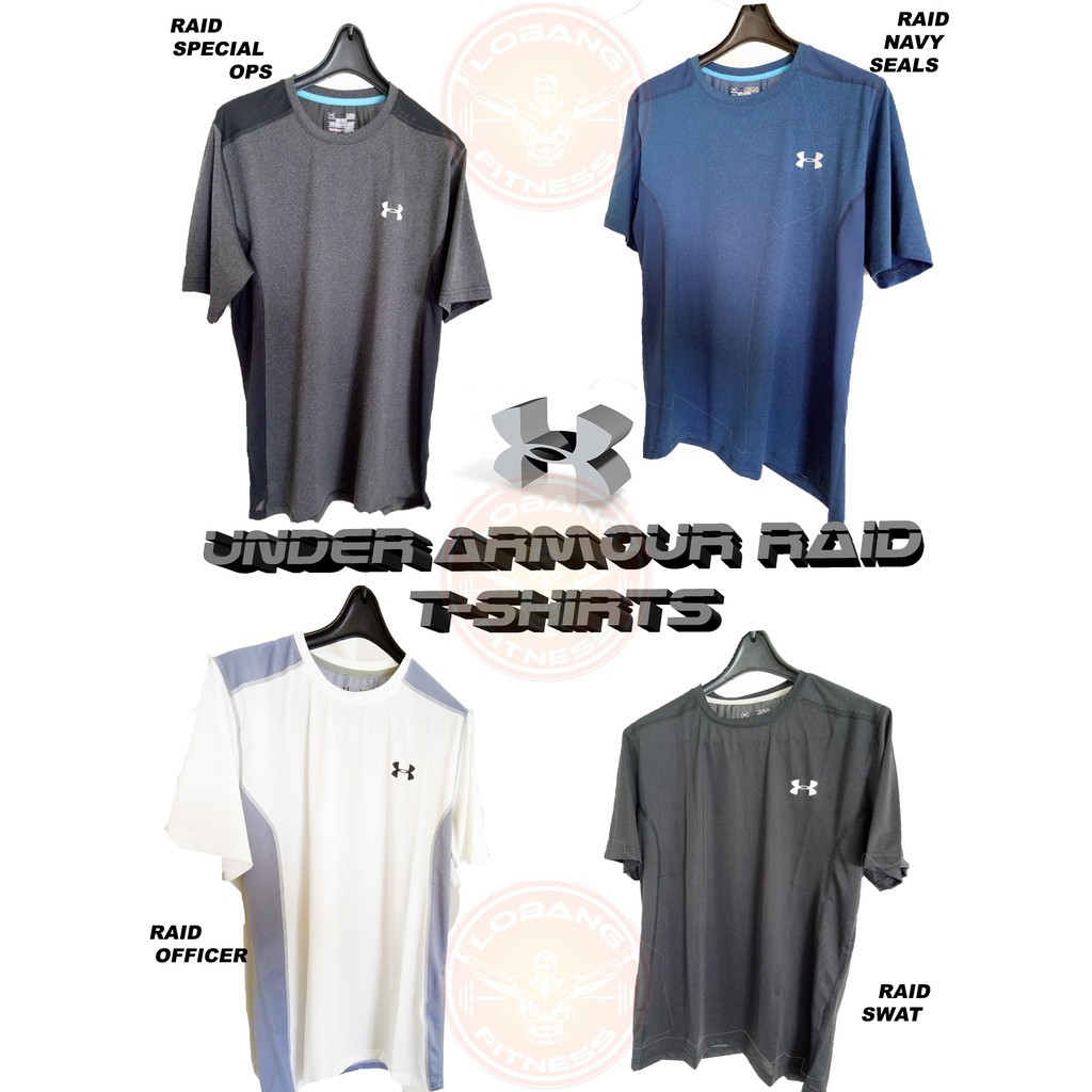 Under Armour CHARGED COTTON/ RAID Sports T-Shirt | Shopee