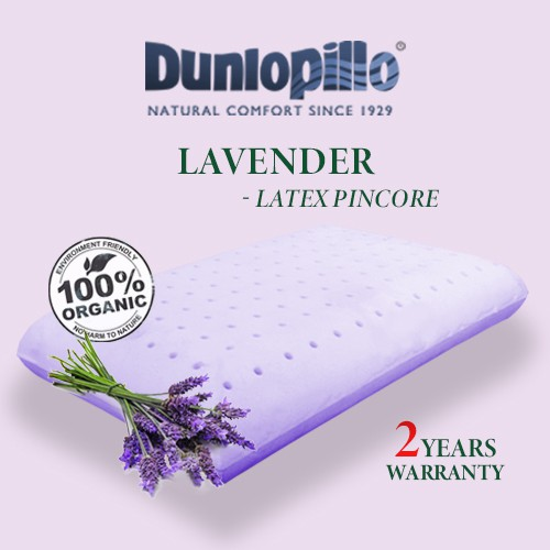 Organic Natural Latex Pillow] LAVENDER PINCORE - Superior Neck Support,  Hypo-Allergenic, Anti-Microbial, Anti-Dustmite | Shopee Singapore