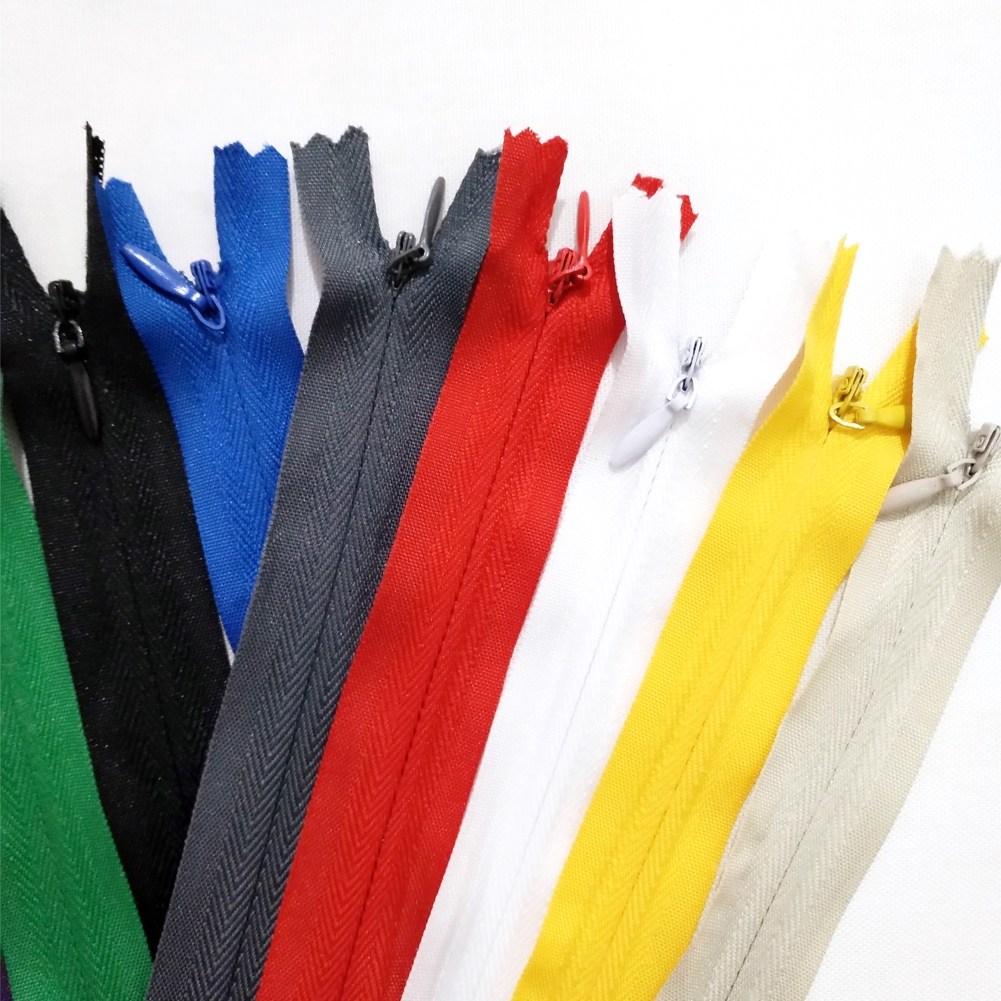 3 X INVISIBLE CONCEALED NYLON HIDDEN ZIPS 50cm
