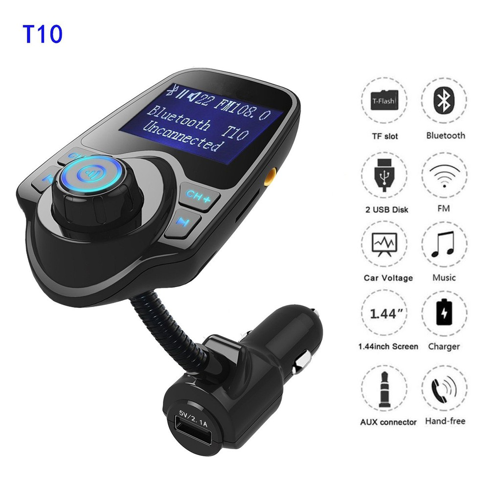 Hy68 Bluetooth Car Kit Dual Usb Charger Mp3 Player Fm Bt20 Wma Audio Transmitter Hands Free Call 5v 34a Support Tf Card Music Pl Adapter Shopee Singapore