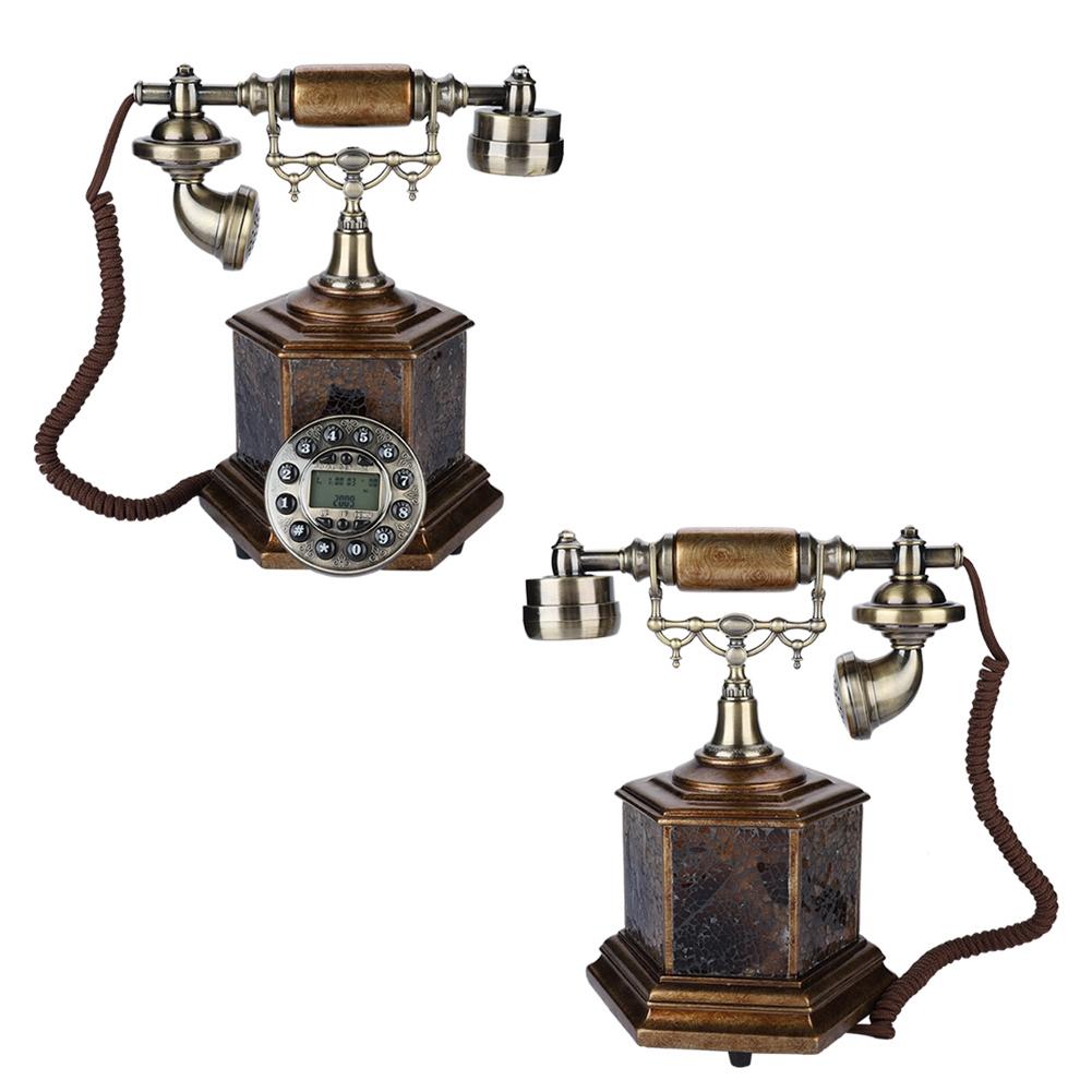 Retro Vintage Big Button Antique Telephone Dial Desk Phone Home Decor