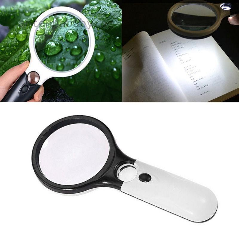 Handheld 160X 200X Zoom Magnifier Multifunctional Mini Jewelers Loupe Portable Magnifying Glass With Led Light