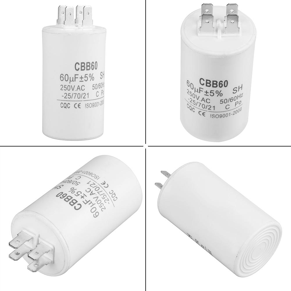 CBB60 Cylinder Shaped Run Capacitor AC 250V 60uF 50/60HZ | Shopee