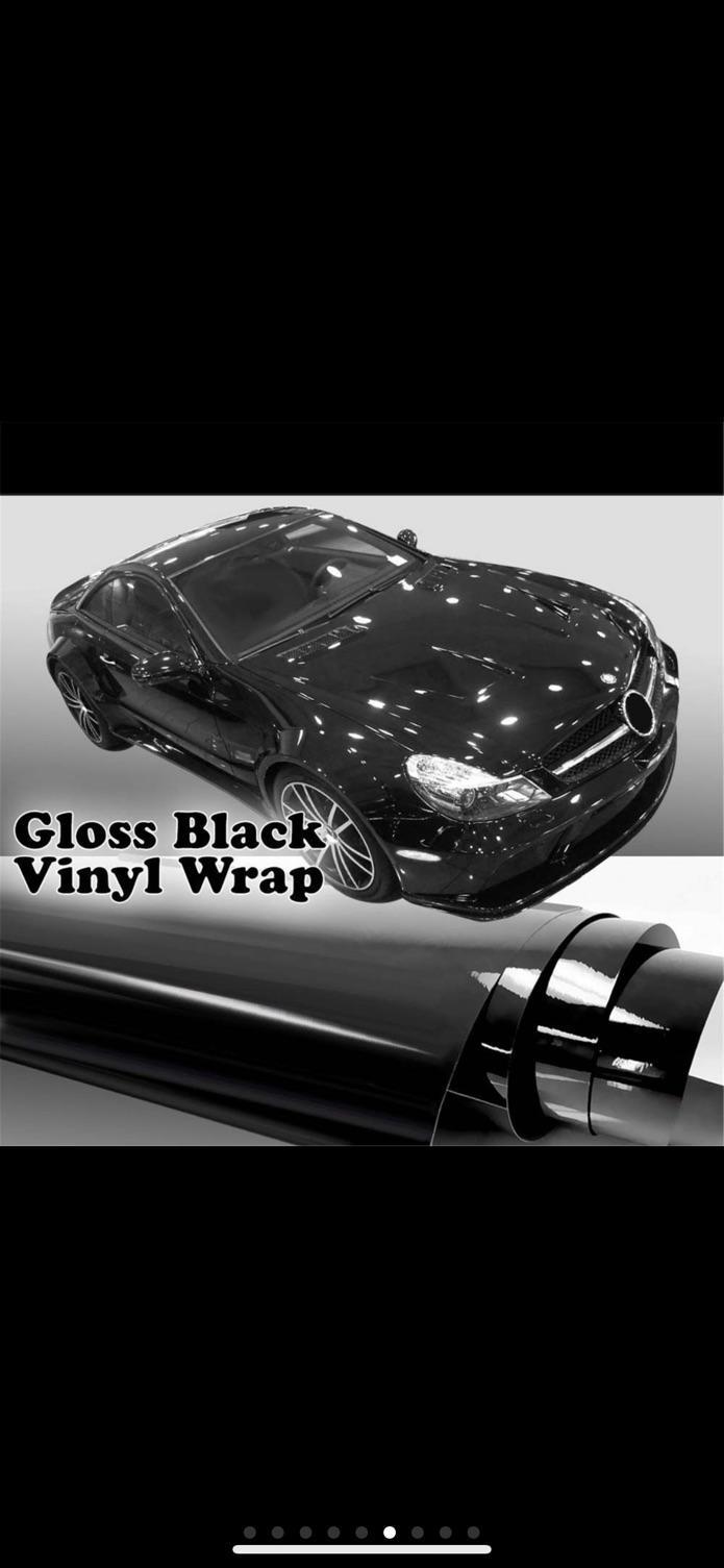 Auto Glossy Gloss Black Vinyl Wrap Film Car Sticker Decal With Air