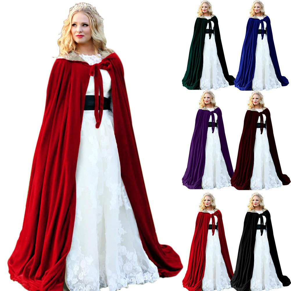 bc6e9f53d8 Adult Halloween Costume Hooded Cloak Cape Jedi Cosplay Robe