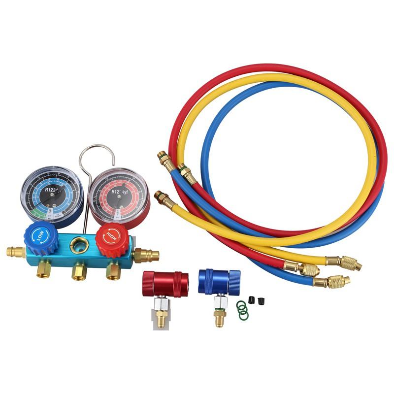 Check /& Charge-It Gauge Hose /& Manual On//Off Coupler KIT R1234yf Refrigerant