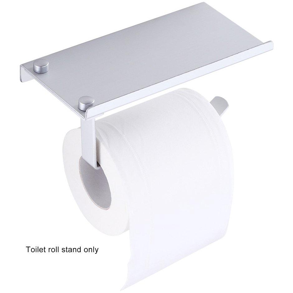 706 Toilet Tissue Box Space Aluminum Waterproof Toilet Roll Paper Holder Free Punch Bathroom Towel Rack 1pcs Shopee Singapore