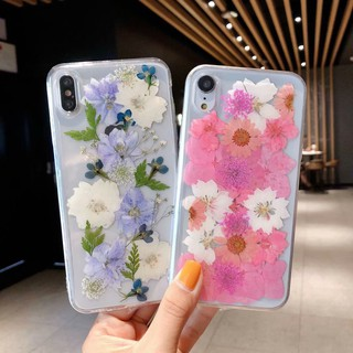 Real Dried Flowers TPU Clear Floral Casing iPhone XS Max XR
