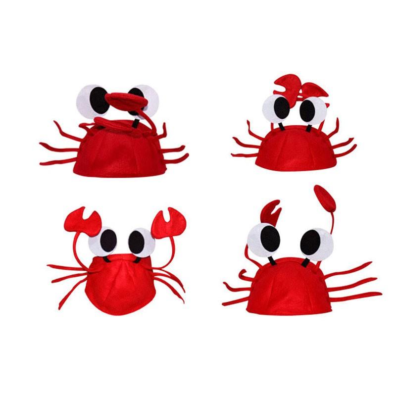 20pcs Lobster Crab Sea Animal Masque Costume Party Hats Fancy Dress Headgear Cap