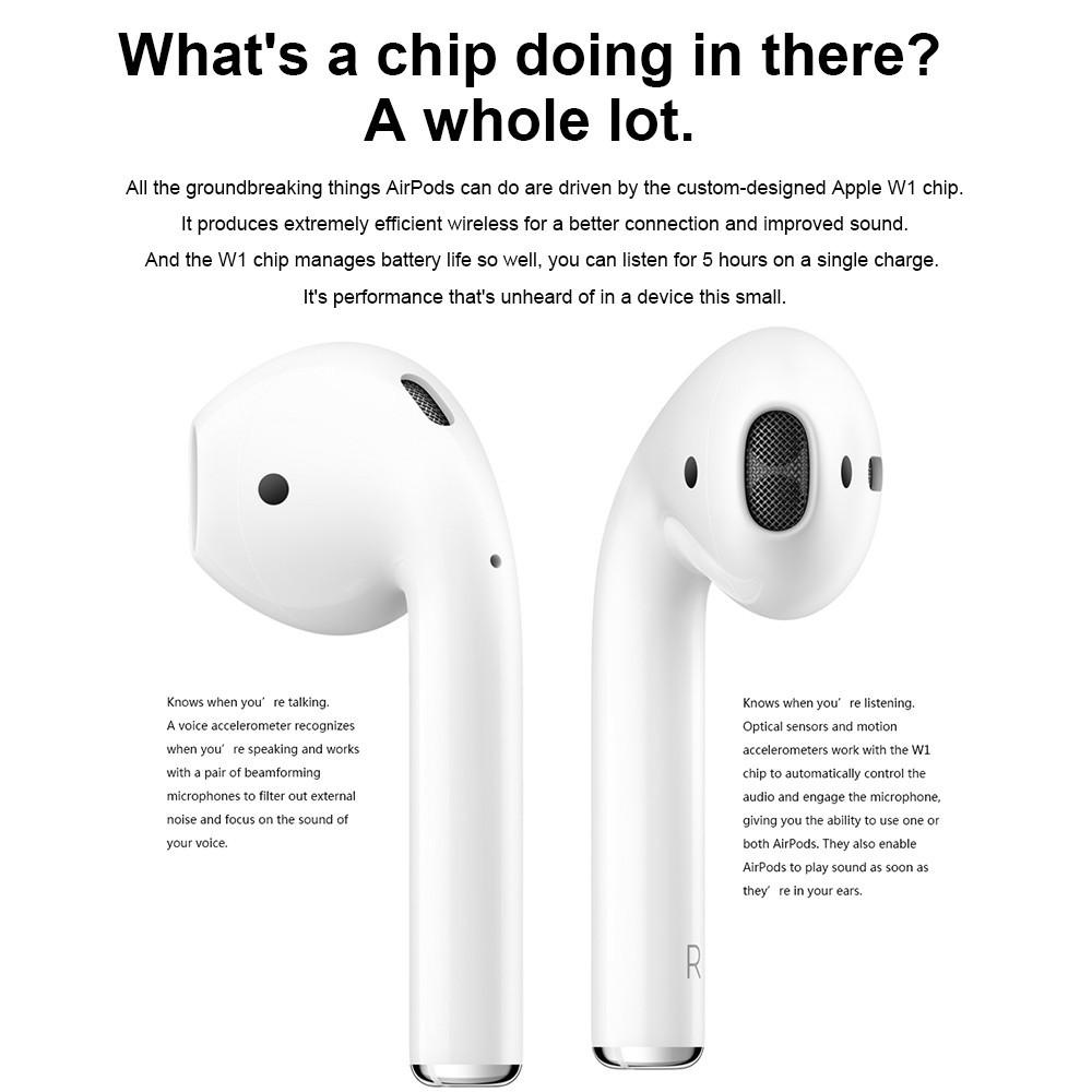 Original Apple AirPods Wireless Bluetooth Headphones Stereo