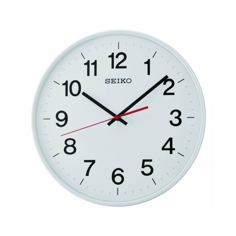 Seiko Qxa701h White Dial Quiet Sweep Wall Clock Shopee Singapore