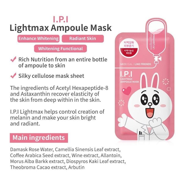 [Clearance] Mediheal Line Friend I.P.I Lightmax Ampoule Mask | Shopee Singapore