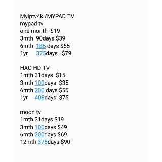 Trusted seller Myiptv 4K/Myiptv4k/MyPadTV/Huat88tv/Hao Hd
