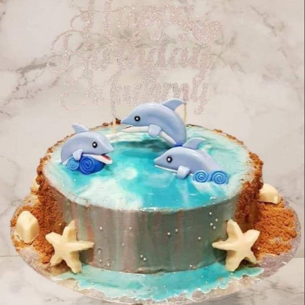 Enjoyable Customised Birthday Cake Dolphin Cake Shopee Singapore Funny Birthday Cards Online Alyptdamsfinfo
