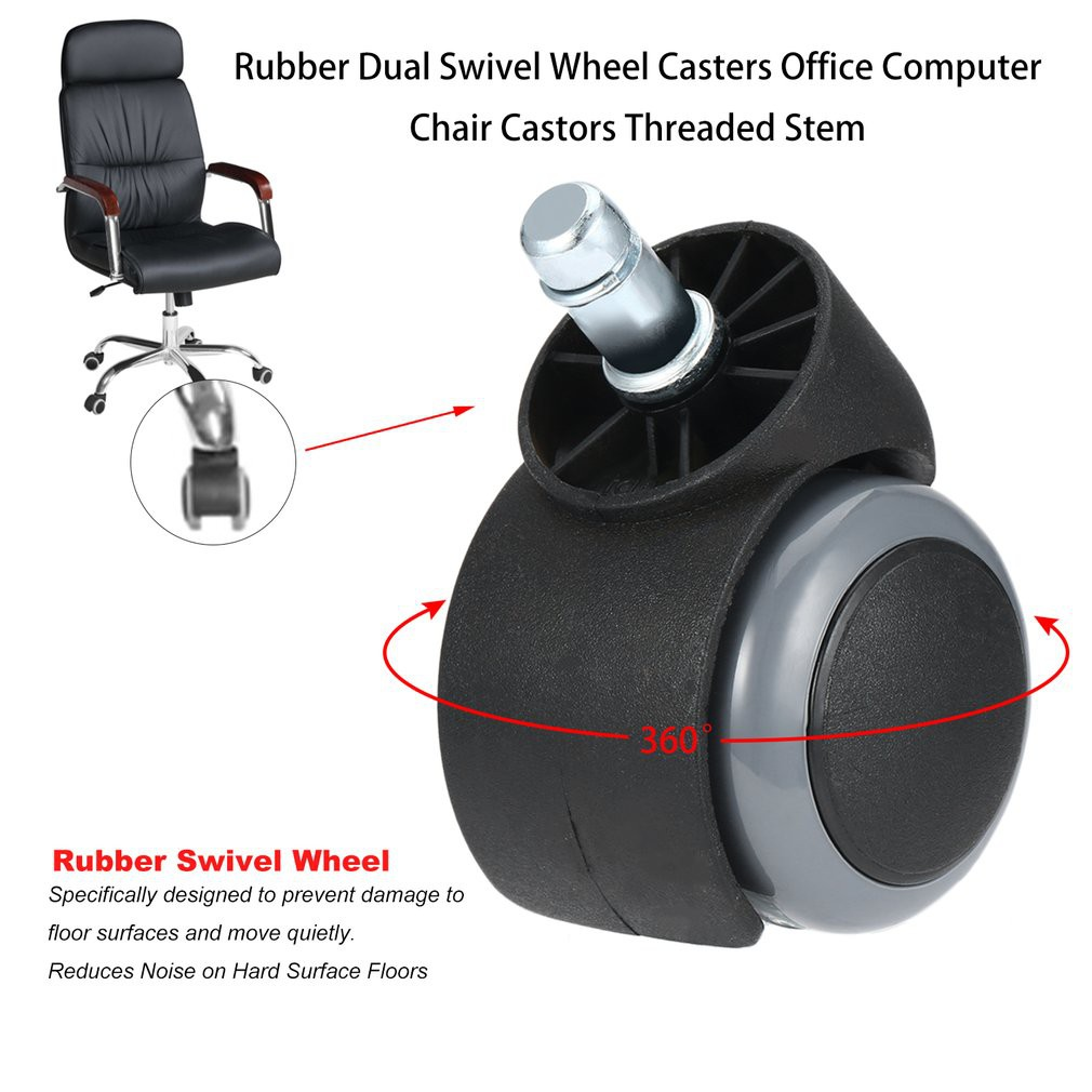 Rubber Dual Swivel Wheel Casters Office