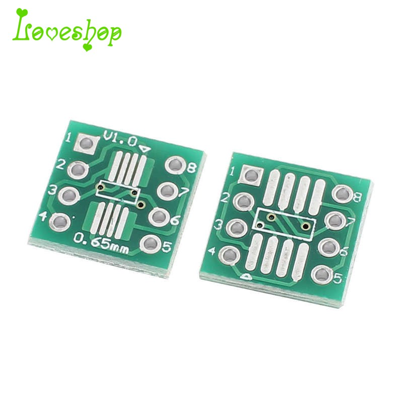 20Pcs Sop8 So8 Soic8 To Dip8 Interposer Board Pcb Board Adapter Plate